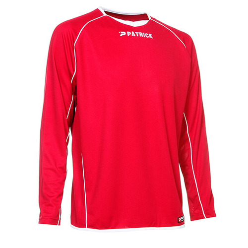 MAILLOT DE MATCH-BASIC SOCCER SHIRT LS-PATRICK-HOMME-RED/WHITE