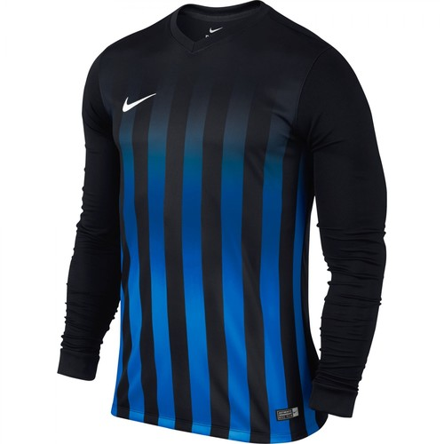 MAILLOT DE MATCH-STRIPED DIVISION LS JERSEY -NIKE-HOMME-BLACK/ROYAL BLUE