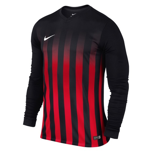 MAILLOT DE MATCH-STRIPED DIVISION LS JERSEY -NIKE-HOMME-BLACK/UNIVERSITY RED