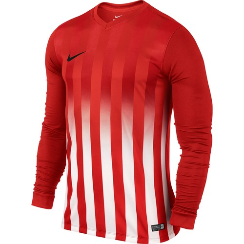MAILLOT DE MATCH-STRIPED DIVISION LS JERSEY -NIKE-HOMME-UNIVERSITY RED/WHITE
