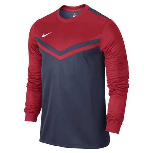 MAILLOT DE MATCH-VICTORY LS JERSEY -NIKE-HOMME-MARINE/ROUGE