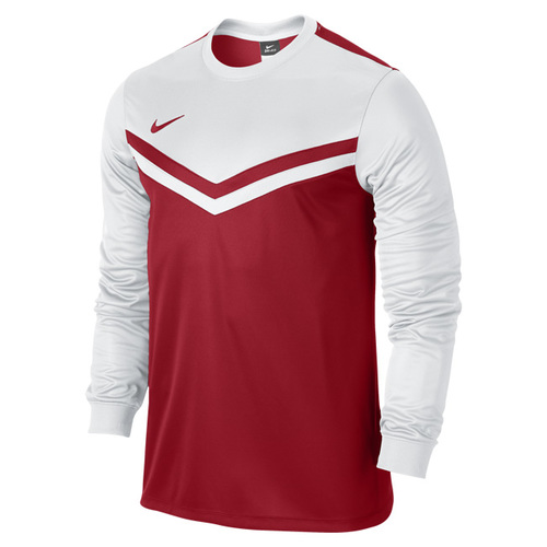 MAILLOT DE MATCH-VICTORY LS JERSEY -NIKE-HOMME-ROUGE/BLANC