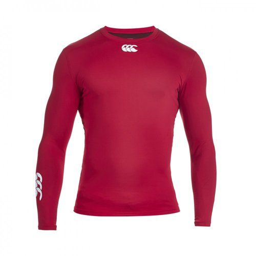 COMPRESSION-THERMOREG LONG SLEEVE TOP-CANTERBURY-HOMME-FLAG RED