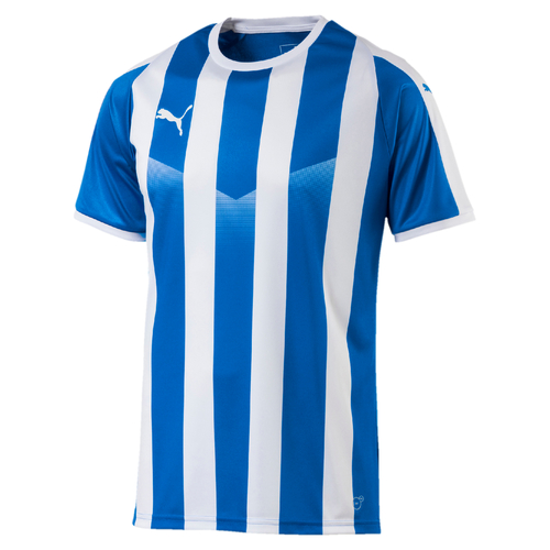 MAILLOT DE MATCH-LIGA Jersey Striped-PUMA-HOMME-ELECTRIC BLUE/ WHITE