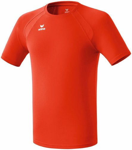 HAUT D'ENTRAINEMENT-TEE-SHIRT PERFORMANCE-ERIMA-HOMME-Rouge Chili