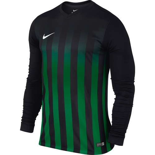 MAILLOT DE MATCH-STRIPED DIVISION LS JERSEY -NIKE-HOMME-BLACK/PINE GREEN