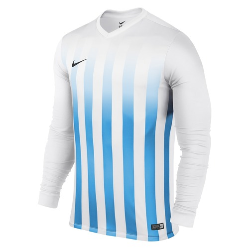MAILLOT DE MATCH-STRIPED DIVISION LS JERSEY -NIKE-HOMME-WHITE/UNIVERSITY BLUE
